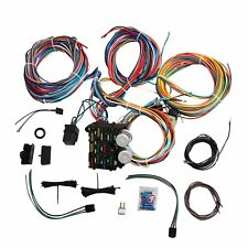 complete universal 12v 24 circuit 20 fuse wiring harness Best Hot Rod Wiring Harness rat rod fuse box wiring diagrams