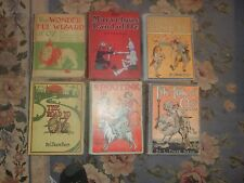 COMPLETE SET OF WONDERFUL WIZARD OF OZ FIRST EDITION, FIRST STATE,BAUM AUTOGRAPH
