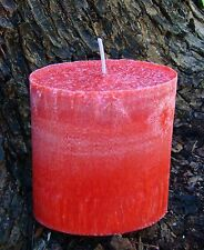 200hr FRESH STRAWBERRIES Triple Scented Natural Pillar OVAL Candle FRUITY GIFTS