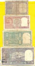 Collect India Old ISSUE of 10 + 5 + 2 + 1 = 4 VERY VERY RARE Notes B. RAMARAU