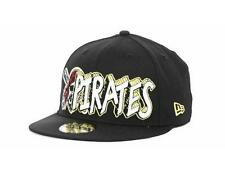 New Licensed Pittsburgh Pirates New Era 59Fifty Fitted Hat Size 7 1/8        B01