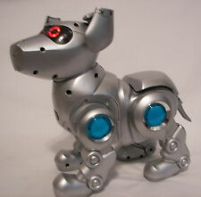 Vintage Silver Tekno Robot Dog Interactive Toy by Quest Excellent Condition