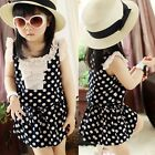 Girls Kid One Piece Princess Dress Skirts Chiffon Dots Ruffled Sundress Clothes