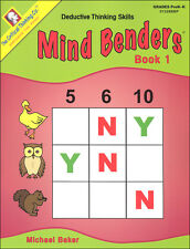 Critical Thinking - Mind Benders Book 1 (Gr. Pre K-K)