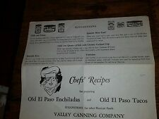 Chef's Recipes for preparing Old El Paso Enchiladas and Old El Paso Tacos