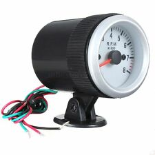 1pcs 2'' 52mm Car Tacho Rev Counter Gauge Tachometer W/ Blue LED 0-8000 RPM New