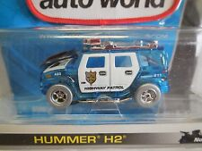 AUTO WORLD ~ Blue Ice Police Hummer H2~ SOLD OUT Everywhere ~ ALSO FITS AFX, AW