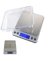 BILANCIA ELETTRONICA BILANCINO DI PRECISIONE DIGITALE LCD PESA 0.1g 2kg PESO