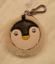 NWT Coach Furry Penguin KeyFob Key Ring Purse Charm
