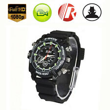 Waterproof 16GB Mini HD 1080P Spy Hidden Watch Camera Night Vision Camcorder DVR