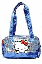 Sanrio Hello Kitty Handbag Blue Metallic Mini Satchel