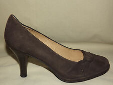 "WOMENS WORN ONCE ""SOFFT"" BROWN NUBUCK LEATHER PUMPS, LEATHER LINED SIZE 7 M"
