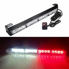 16 LED Work Light Bar Beacon Tow Truck Emergency Warning Strobe Lamp Red & White