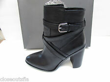 Vince Camuto Size 10 M Leather Black Vintage Ankle Boots New Womens Shoes