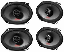 "(2) Pairs Alpine SPR-68 6x8"" 2-Way Car Stereo Speakers 1200 Watts Total Type-R"