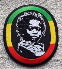 RASTA CHILD FACE PATCH Cloth Badge/Emblem/Insignia Biker Jacket Rastafarian Flag