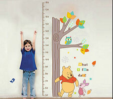 Giant Winnie the Pooh Height Chart Wall Decor Stickers Decal Removable Kids DIY