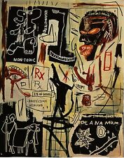 "Jean Michel Basquiat ""Melting point of ice"" HD Canvas print wall picture 36x28"""
