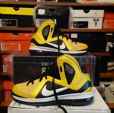 """Nike LeBron 9 P.S. elite series """"taxi"""" yellow black red mens 8.5 need best offer"""
