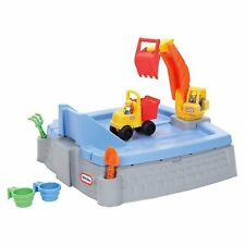 Sandbox with Lid Kids Active Outdoor Play Backyard Sand Beach Toy Sandcastle Fun