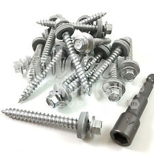 500 6.3mm (14g) x 75mm CORRUGATED TIMBER TEK TEC ROOFING SCREWS - SELF DRILLING
