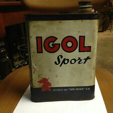 bidon huile collection IGOL  old oil can collector automobilia n°6
