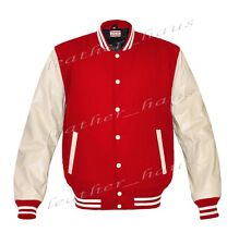 Genuine Leather Sleeve Letterman College Varsity Men Wool Jackets #CRSL-WSTR-CB