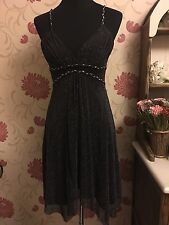 Stunning Jane Norman Black Sparkly Party Dress Size 8
