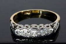 AN ANTIQUE SOLID 18ct GOLD & PLATINUM DIAMOND 5 STONE RING SIZE L/M (6)