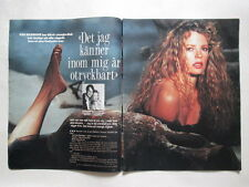 Kim Basinger Madonna Louise Ciccone pages cuttings clippings Swedish Sweden
