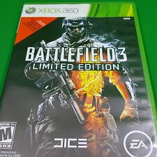 Battlefield 3 Limited Edition Microsoft Xbox 360, 2011 Shooter Military