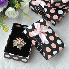 5pcs Boîte à Bijoux de Papier Présentoir Rangement Coffrets Cadeaux