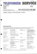 Telefunken Original Service Manual für HR 800