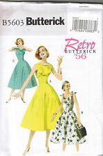 Easy Vtg 50s Retro Princess Flared Rockabilly Dress Sewing Pattern Sz 6 8 10 12