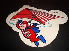 "Bud Man Budweiser Air Glider 1970's Promo Sticker Decal 7 x 6"" #91A NM Condition"