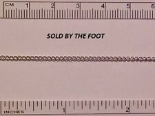 #CC4(S)NS Soldered Curb Chain for Model Horse Tack (New Style) - SILVER-TONED