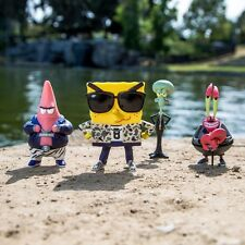 BAIT x SpongeBob 4 Inch Figure Set Of 4 - SpongeBob Patrick Squidward Mr Krabs (