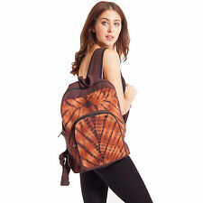 Hemp Blend Brown Tie-Dye Backpack-90425