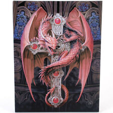 "Gothic Guardian Canvas Wall Plaque by Anne Stokes 10"" x 7.5"""