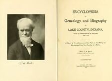 1904 LAKE County Indiana IN, History and Genealogy Ancestry Family Tree DVD B36