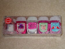BATH AND BODY WORKS POCKETBAC ANTI-BACTERIAL HAND GEL SET LIMITED EDITION PINK