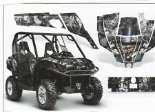 AMR Racing CanAm Commander Graphic Decal Kit UTV All Years MADHATTER BLACK