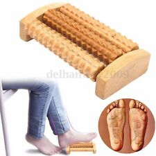 Wooden Foot Roller Wood Massage Reflexology Relax Stress Pain Relief Massager