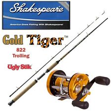 Trolling Set Shakespeare UGLY STIK GOLD Tiger + 6001 Linkshand Multirolle