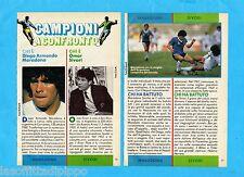TOP987-RITAGLIO/CLIPPING/NEWS-1987- MARADONA vs SIVORI -2 fogli