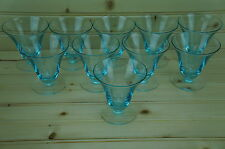 Tiffin-Franciscan Cerulean Blue Lot of (12) Oyster or Fruit Cocktail 3 3/8""
