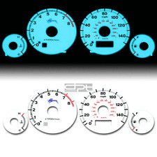 INDIGLO GLOW GAUGE+HARNESS WHITE FACE FOR 01-05 HONDA CIVIC EX MANUAL D17A2 VTEC