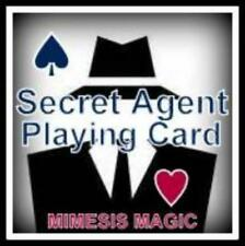 SUPER Gimmick Card: THE SECRET AGENT CARD by Mimesis Gaff Card Workshop