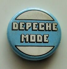 DEPECHE MODE OLD METAL BUTTON BADGE FROM THE 1980's RETRO SYNTH POP