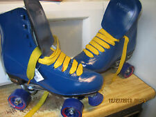 Men Blue & Yellow  size 9/ SIZ10  Women   Roller Skates, BE FRIST!!